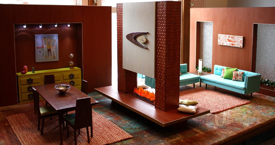 Mid Century Modern House Ooak Spectacular Maryann
